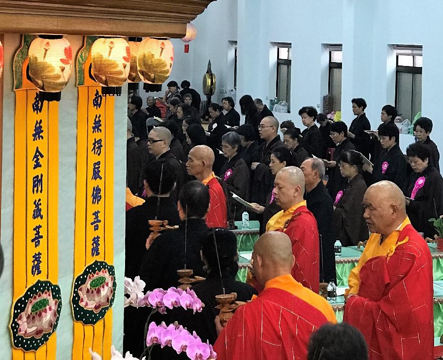 Ven. Zen Yu Hosting the Ceremony
